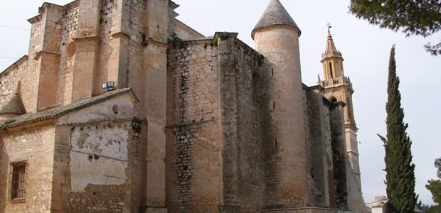 El templo se encuentra en el punto más alto de Estepa (Sevilla), el Cerro de San Cristóbal, donde inicialmente se situó la ciudad. Fue fundada tras la conquista de la ciudad en 1240. Se sitúa junto al castillo, formando antiguamente parte del sistema defensivo. Como piezas interesantes, podemos destacar una imagen de San Juan Evangelista y un relicario bizantino del siglo XII.