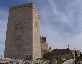Esta antigua alcazaba árabe está localizada en la zona más alta de Estepa (Sevilla), el Cerro de San Cristóbal.Su planta casi triangular se adapta a la topografía del terreno, teniendo sus orígenes en asentamientos protohistóricos. En el cerro de San Cristóbal existieron dos fortificaciones: por un lado el recinto militar romano-árabe, y por otro el Castillo (s. XIV).