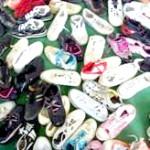 Campaña benéfica de recogida de zapatos en Estepa