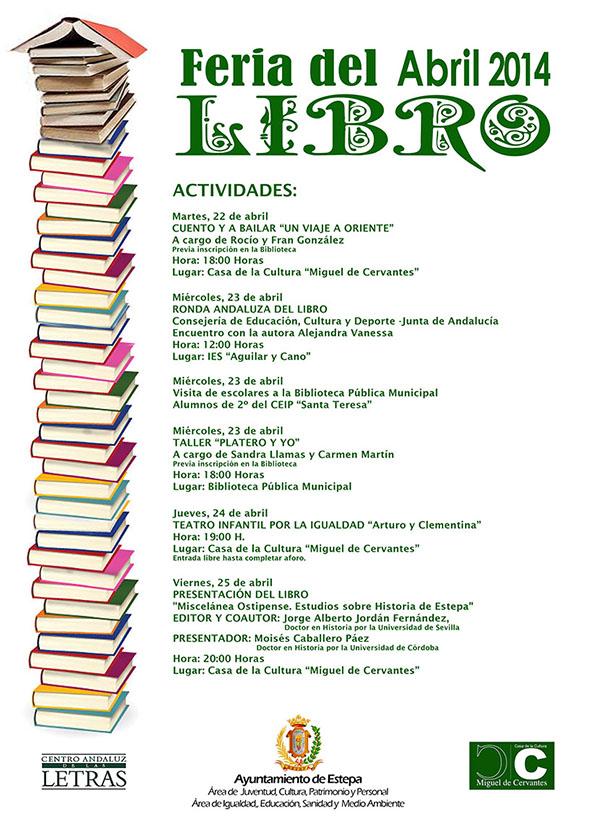 Calendario de actividades de la Feria del Libro de Estepa 2014