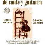Flamenco en Estepa: Recital de cante y guitarra