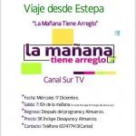 """Viaje como público desde Estepa al programa """"La Mañana Tiene Arreglo"""" de Canal Sur TV"""