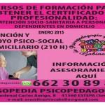 Curso de Formación en Atención Socio-Sanitaria a Personas Dependientes en el domicilio y Apoyo Psicosocial