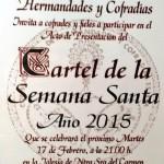 Presentación del Cartel de la Semana Santa de Estepa 2015