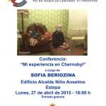 """Conferencia en Estepa: """"Mi experiencia en Chernóbil"""""""