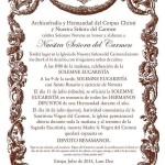 Solemne Novena en honor y alabanza a Nuestra Señora del Carmen de Estepa