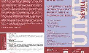 II Encuentro taller: Internacionaliza tu empresa desde la provincia de Sevilla