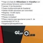 """@EstepaNoticias organiza un viaje al programa """"El Gran Queo"""" de Canal Sur"""