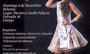 Certamen Miss Internacional Sierra Sur en Estepa