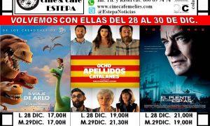 Cine en Estepa: Cartelera del 28 al 30 de diciembre 2015