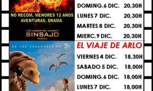 Cine en Estepa: Películas y horarios para el puente de la Inmaculada
