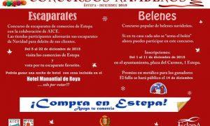 Concurso de escaparates y belenes 2015 en Estepa