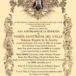 XXV Aniversario de la Bendición de María Santísima del Valle (Estepa)