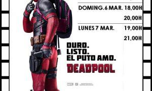 Cine en Estepa: DeadPool del 4 al 7 de marzo