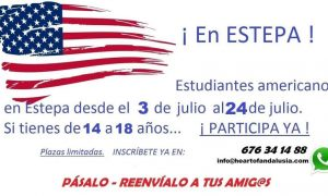 Abierto el plazo de solicitud para acoger a estudiantes americanos en familias de Estepa