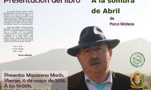Presentación del libro «A la sombra de abril» en Estepa