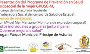 Presentación en Estepa del Programa de Prevención en Salud Psicosocial de la Mujer