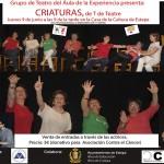 """Teatro Solidario en Estepa: """"Criaturas, de T de Teatre"""""""