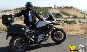 El estepeño Manuel Tejada hará una ruta en moto hasta los Alpes Suizos