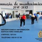 Abierto el plazo de inscripción para las sesiones de gimnasia de mantenimiento 2016/2017