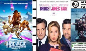 Cine en Estepa: Ice Age 5 y Bridget Jones´ Baby