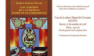Presentación en Estepa del libro «Los auroros de las sierras Subbéticas cordobesas»