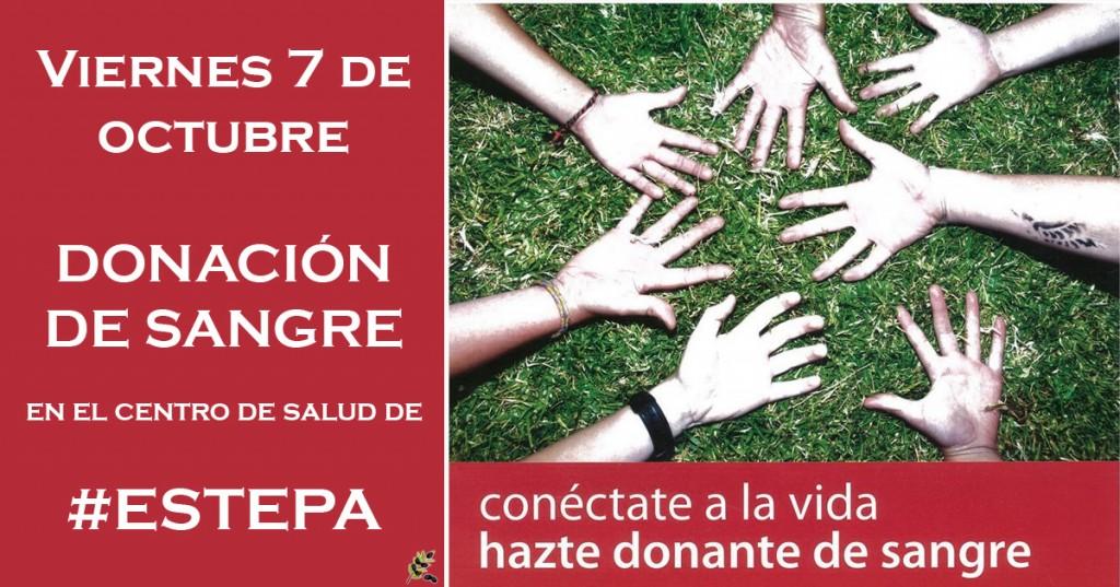 Este viernes se podrá donar sangre en el Centro de Salud de Estepa