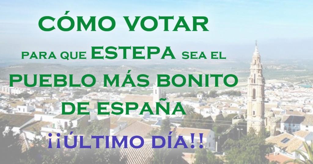 Último día para votar que Estepa esté entre los pueblos más bonitos de Andalucía y de España