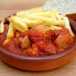 Recetas de la comarca de Estepa: Magro con tomate