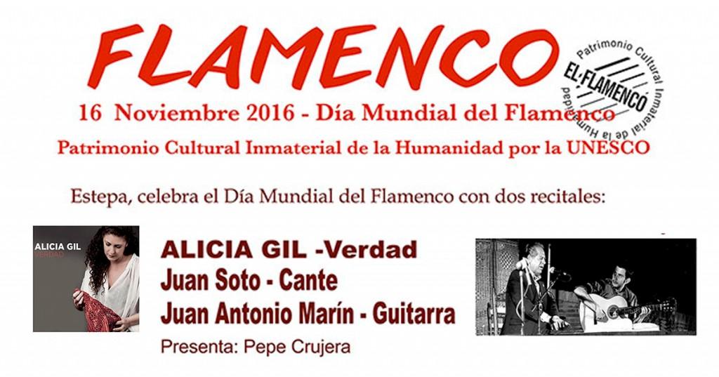Recital flamenco en Estepa con motivo del Día Mundial del Flamenco