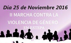 Marcha contra la violencia de género en Estepa