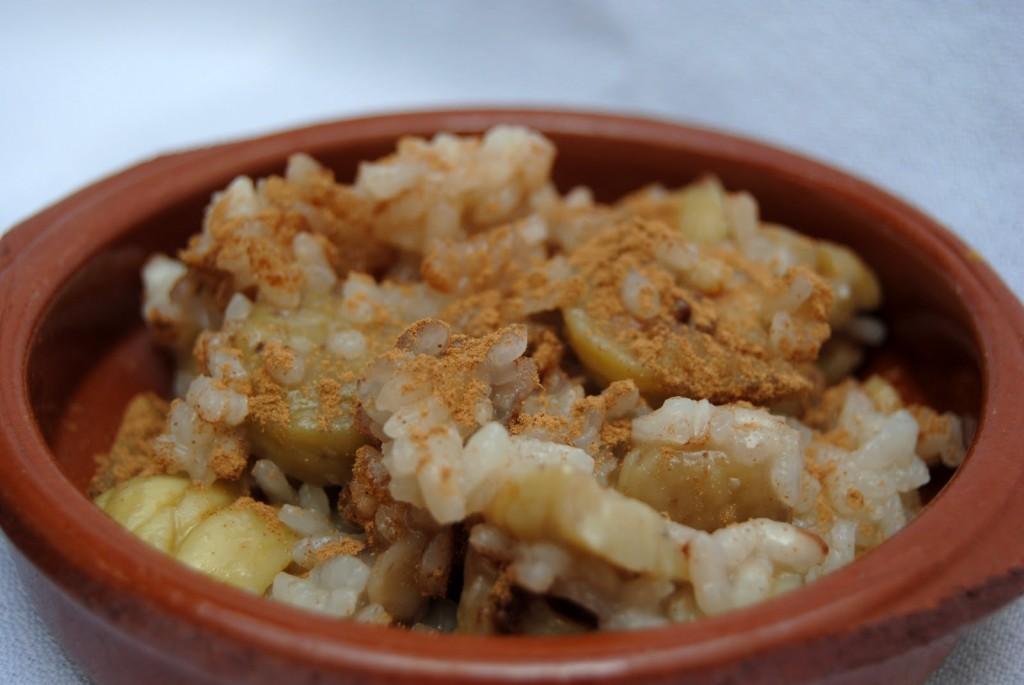 Recetas de la comarca de Estepa: Arroz con castañas