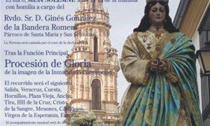 Solemne Novena en honor a la Inmaculada Concepción en Estepa