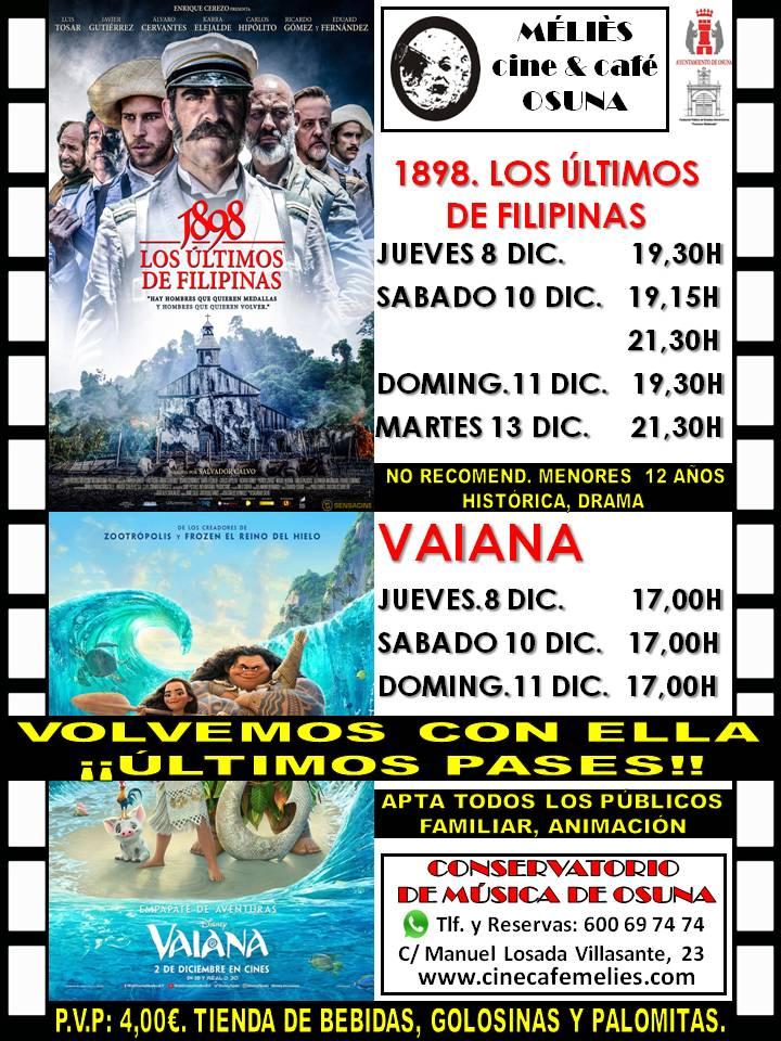 """Cine en Estepa: """"1898, los últimos de Filipinas"""" y """"Vaiana"""""""