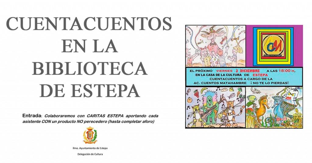 Esta tarde, Cuentacuentos solidario en Estepa