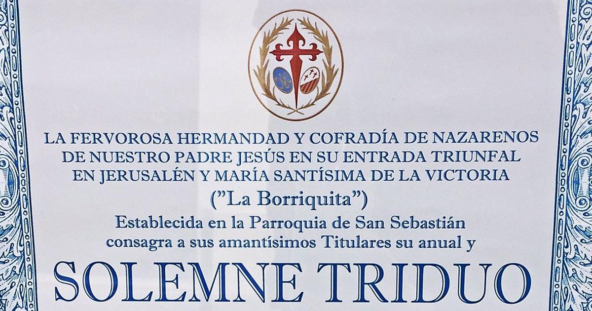Solemne Triduo de la Hermandad de La Borriquita