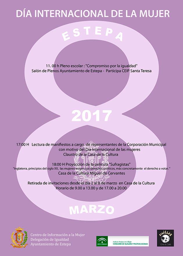 Celebración del Día Internacional de la Mujer 2017 en Estepa