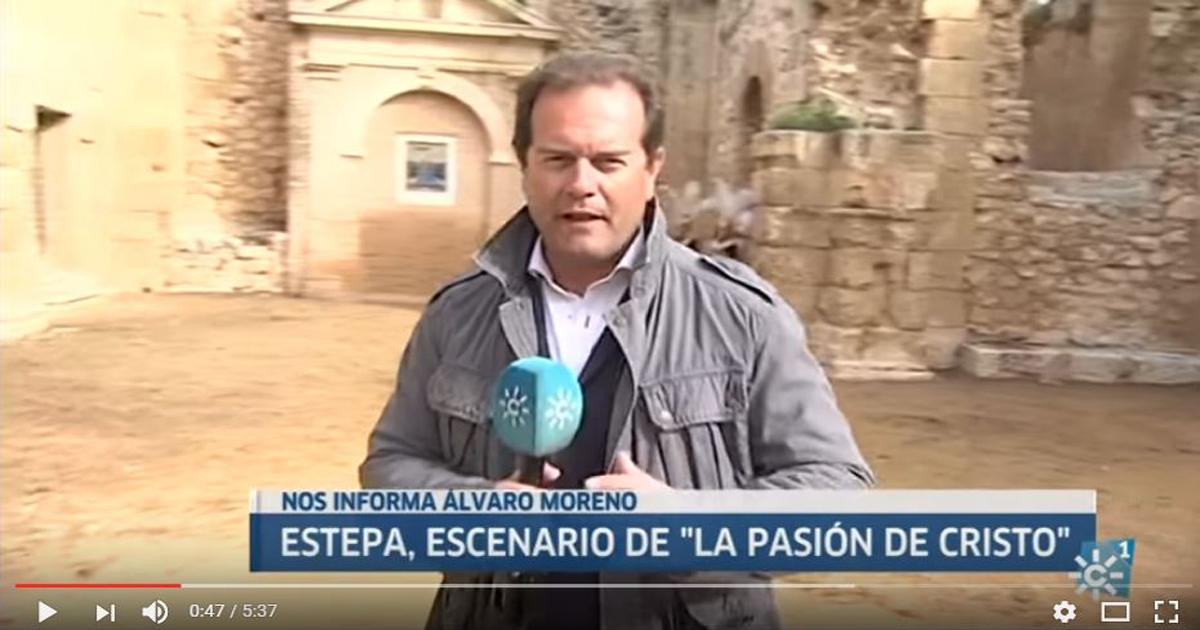 Canal Sur dedica parte de su noticiario a INRI, la película de la Semana Santa de Estepa
