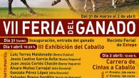 Del 31 de marzo al 2 de abril tendrá lugar en Estepa la VII edición de la Feria de Ganado en el recinto ferial de la localidad.