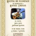 La Peña Cultural Flamenca Manuel de Paula de Estepa organiza este domingo un Recital de Flamenco en homenaje a Rafael Trenas.