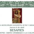Este jueves 6 de abril en la iglesia de Nuestra Señora de los Remedios de Estepa, tendrá lugar el Besapies al Santísimo Cristo Amarrado a la Columna.