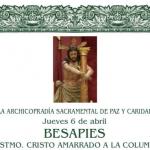 Besapies al Santísimo Cristo Amarrado a la Columna en Estepa