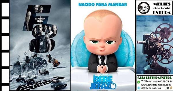 """Cine en Estepa: """"Fast & Furious 8"""" y """"El bebé jefazo"""""""