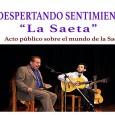 Mañana martes 4 de abril en la Casa de la Cultura Miguel de Cervantes de Estepa, se celebrará un acto sobre la Saeta en la Semana Santa a partir de las 18:30.