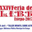 Hoy martes 25 de abril, con motivo de la XXIV Feria del Libro, los más pequeños podrán disfrutar en la Biblioteca de Estepa de un Taller infantil sobre Astronomía.