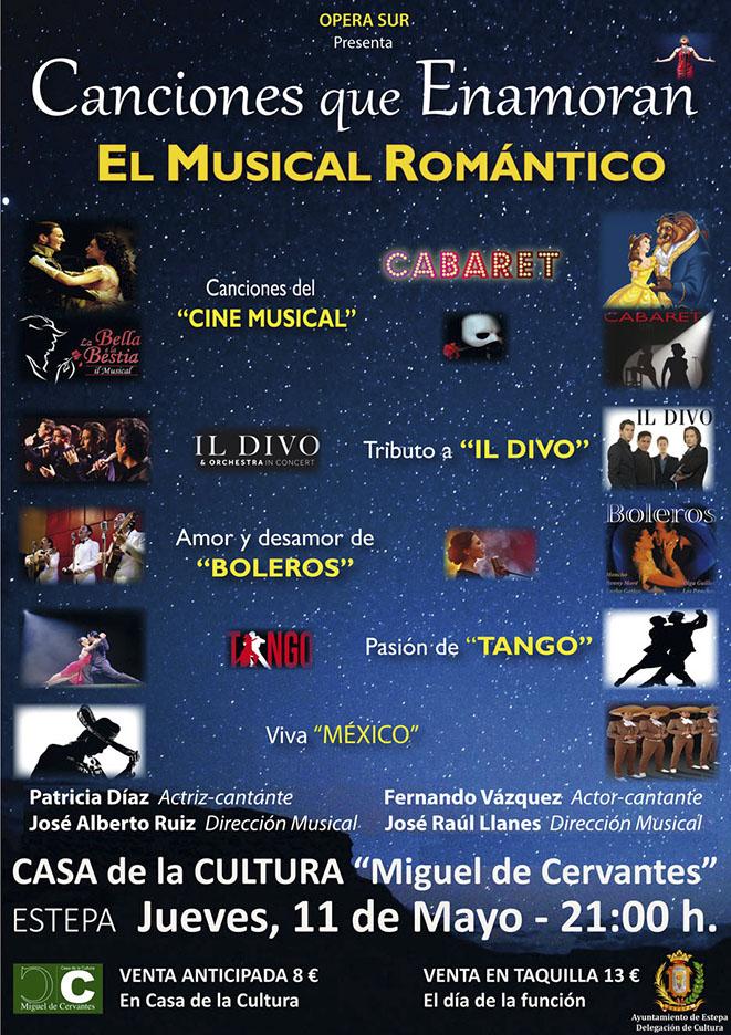 """Este jueves en Estepa """"El Musical Romántico: Canciones que enamoran"""""""