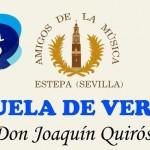 """Abierto el plazo para la Escuela Musical de verano """"Don Joaquín Quirós"""" de Estepa"""