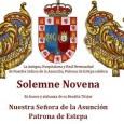 La Antigua, Hospitalaria y Real Hermandad de Nuestra Señora de la Asunción, Patrona de Estepa, celebra Solemne Novena en honor y alabanza de su Bendita Titular Nuestra Señora de la Asunción.