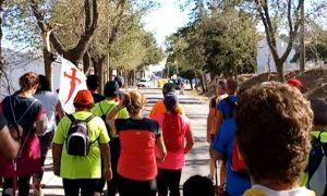 Señalización del Camino de Santiago entre Pedrera y Estepa