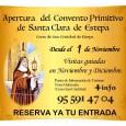 A partir de noviembre el Convento Primitivo de Santa Clara de Estepa, ubicado en el Cerro de San Cristóbal, abrirá sus puertas para realizar visitas guiadas.